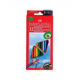 Карандаши цветные Faber-Castell Eco 12 цветов точилка 120523