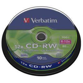 CD-RW Verbatim 700Mb 12x 10шт Cake Box