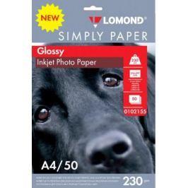 Фотобумага Lomond Simply A4 230г/м2 50л белый глянцевое покрытие для струйной печати 0102155