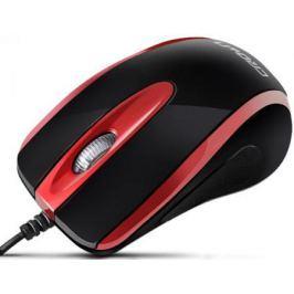 Мышь проводная Crown CMM-014 чёрный красный USB