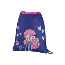 Мешок для сменной обуви Hama Pretty girl синий/розовый 00139114