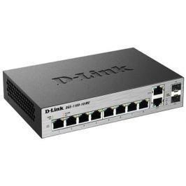 Коммутатор D-Link DGS-1100-10/ME/A1A Настраиваемый коммутатор 2 уровня с 8 портами 10/100/1000Base-T и 2 комбо-портами 100/1000Base-T/SFP