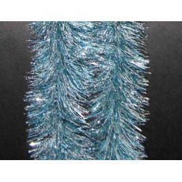 Мишура одноцветная ИНЕЙ, голубая, блестящая, 100 мм, длина 2 м