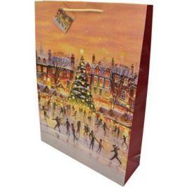 Пакет подарочный бумажный ламинированный, 330х457х102 мм, с блестящей крошкой
