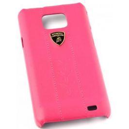 Кожаный клип-кейс для Samsung Galaxy S2 Lamborghini Performate-D1 (розовый)