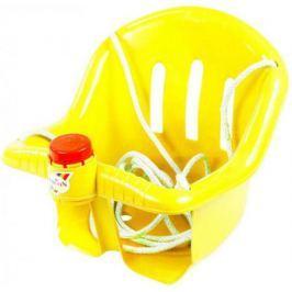 Т1790 Качели Бонифаций с барьером безопасности, с клаксоном желтые ОР757