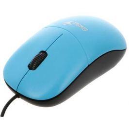 Мышь проводная Genius DX-135 голубой USB