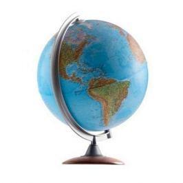 Глобус ATLANTIS с двойной картой, диаметр 25 см, новая карта, подсветка, деревянная подставка
