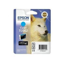Картридж Epson C13T09624010 T0962 для Epson Stylus Photo R2880 голубой