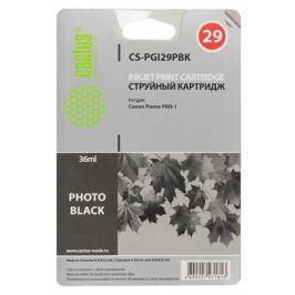 Картридж Cactus CS-PGI29PBK для Canon Pixma Pro-1 фото черный