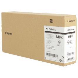 Картридж Canon PFI-703 MBK для плоттера iPF815/825. Матовый чёрный. 700 мл.