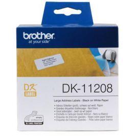 Наклейки Brother DK11208 адресные большие 38х90мм (400шт)
