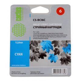 Картридж CACTUS CS-BCI6C для CANON S800/ S820/ S900/ S9000; i550/ i560/ i860/ i865/ i905D/ i950S/ i960x/ i965/ i990/ i9100/ i9950; JX500; MP750/ MP76