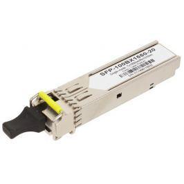 Трансивер ZyXEL SFP-100BX1550-20 Одноволоконный SFP-трансивер 100BX 1550 нм для одномодового оптоволоконного кабеля на расстояние до 20 км