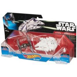Набор Mattel Hot Wheels 2 звездных корабля Star Wars Tie Fighter vs Millennium Falcon CGW90