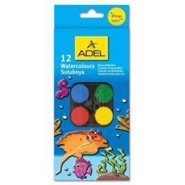 Краски акварельные Adel 24мм 12 цветов 229-0933-000