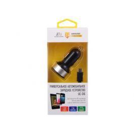 Универсальное зарядное устройство Jet.A от прикуривателя 12В-24В UC-S16 (2 USB-порта, 2.1А, кабель micro USB в комплекте) Цвет - чёрный