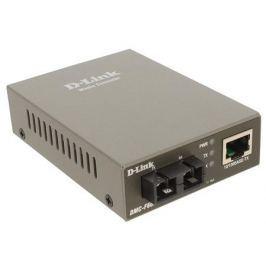 Медиаконвертер D-Link DMC-F60SC/A1A Медиаконвертер с 1 портом 10/100Base-TX и 1 портом 100Base-FX с разъемом SC для одномодового оптического кабеля (д