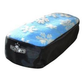Чехол для снегокатов RT 2713 мех ткань голубой с белыми снежинками