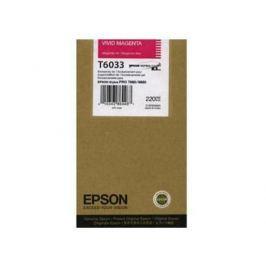 Картридж Epson Original T603300 для Stylus Pro 7800/9800/7880/9880. Пурпурный.