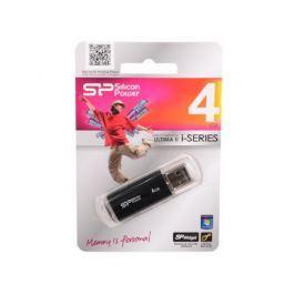 USB флешка Silicon Power Ultima II I-series Black 4GB (SP004GBUF2M01V1K)