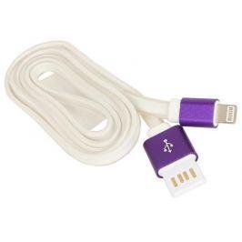Кабель USB 2.0 Cablexpert AM/Lightning 8P (CC-ApUSBp1m), 1 м, серый/фиолетовый