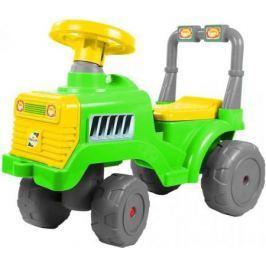Каталка-трактор R-Toys ОР931к пластик от 1 года зелено-желтый