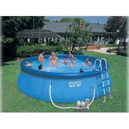 Надувной бассейн INTEX Easy Set, 549х122см наб.(видео,сис.очист.воды и насос-фильтр,лест.,настил,тен