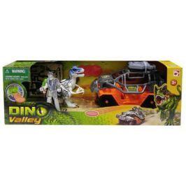 Игровой набор CHAP MEI Динозавр Тиранозавр и охотник на джипе (стреляет) 520152-2