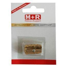 Точилка металлическая, латунь, форма пули, блистерная упаковка 0604-0002