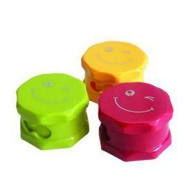 Точилка пластмассовая СМАЙЛ, двойная,картон.цветная коробка FSH420