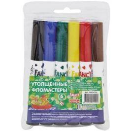 Набор фломастеров Action! набор утолщенных фломастеров FANCY, 6 цветов, PVC, 2 диз.
