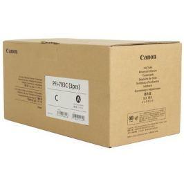 Картридж Canon PFI-703 C (3 PCS) для плоттера iPF815/825. Голубой. 700 мл. 3 штук.