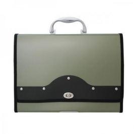 Папка-портфель METALLIC с металлическим замком, 13 отделений, А4, зеленая