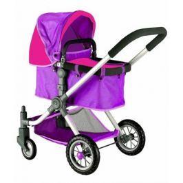 Кукольная коляска RT цвет фиолетовый-фуксия 646