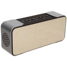 Беспроводная BT-Колонка GiNZZU GM-884B, Black/Silver (10 Вт, 80 - 18 000 кГц, Bluetooth, FM, mini Jack, USB, microSD, батарея)