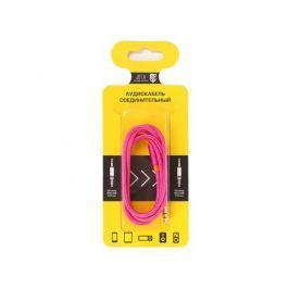 Аудиокабель соединительный Jet.A mini Jack-mini Jack в оплётке JA-AC02 1 м розовый (3 pin/3.5 мм)