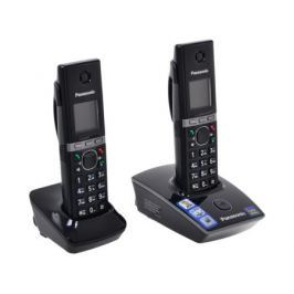 Телефон DECT Panasonic KX-TG8052RUB АОН, Color TFT, Caller ID 50, Спикерфон, Эко-режим, Радионяня, + дополнительная трубка