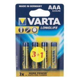Батарейки VARTA Long Life AAA блистер 4 4103113414