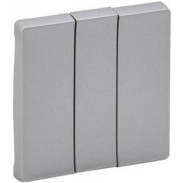 Лицевая панель Legrand Valena Life для выключателя трехклавишного алюминий 755032