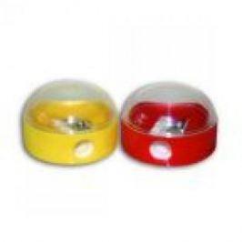 Точилка пластмассовая, одинарная, круглая, с контейнером, 4 цв. ассорти ISH200