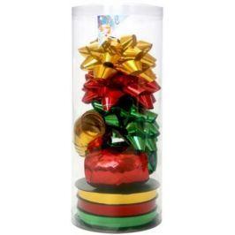 Набор для подарочной упаковки:бантики 3 шт.х9 см,лента 3 шт.х5 ммх20 м,лента 3 шт.х10 ммх20 м, ПВХ