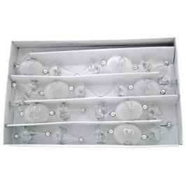 Бусы стеклянные прозрачные, 1 шт. в картонной коробке, 25 ммх1м