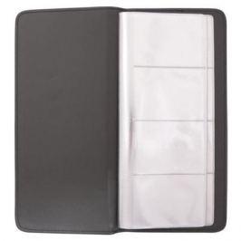 Визитница настольная, блок 128 визиток, 260х118 мм, кожзам, коричневая