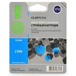 Картридж Cactus CS-EPT1712 для Epson Expression Home XP-33 103 203 207 303 306 403 406 голубой