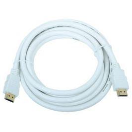 Кабель HDMI 19M/19M 3.0m ver:1.4 +3D/Ethernet AOpen [ACG511W-3M] белый, позолоченные контакты