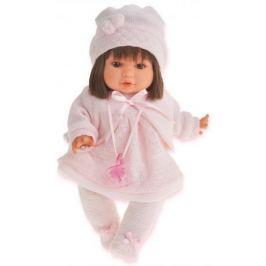 Кукла Munecas Antonio Juan Кристи в светло-розовом, плач., 30 см 1339P