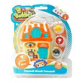 Игровой набор 1 Toy Bbuddieez оранж.домик для хранения с подвеской,3 шарма-перс.,18х14х2см,блистер