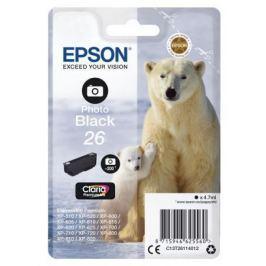 Картридж Epson C13T26114012 для Epson XP-600/605/700/710/800 фото черный 200стр