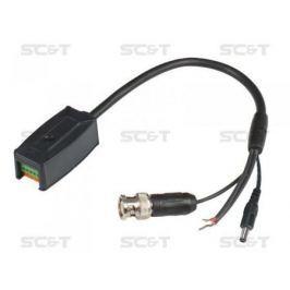 Приемопередатчик SC&T TTP111VPD видео питания и данные по кабелю витой пары пассивный